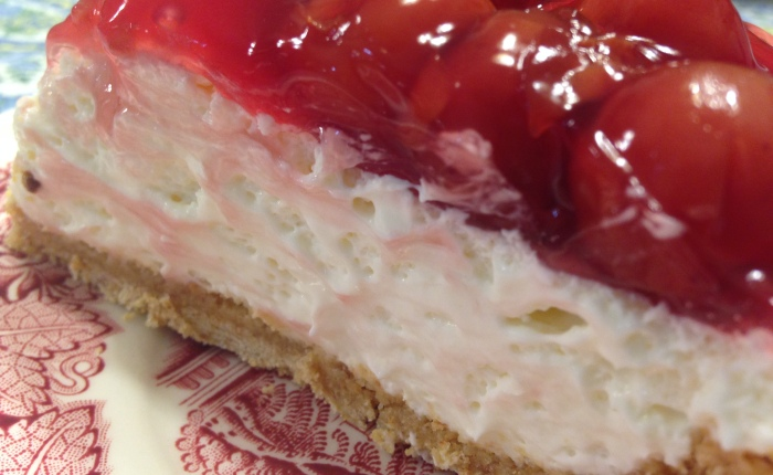 The Simplest Most Delicious Cherry Cheesecake Recipe I've Ever Made