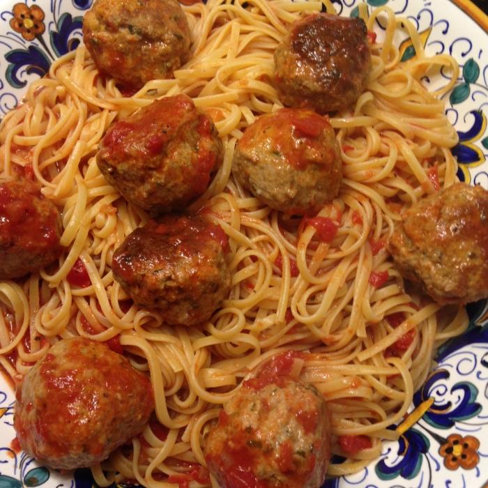 Linguine with Meatballs – A Pre-raceFeast