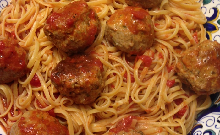 Linguine with Meatballs – A Pre-race Feast