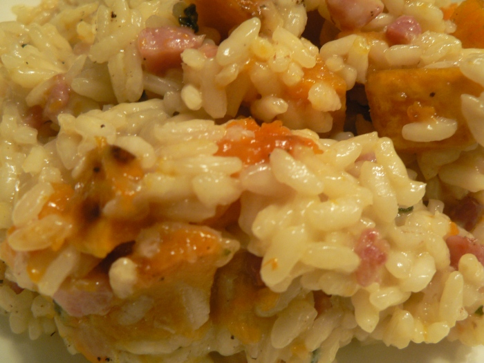 Roasted Squash and Pancetta Risotto Perfect Combination of Sweet and Salty